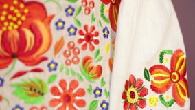National embroidery shirt stock video footage