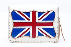 National England flag wallet on white background. Royalty Free Stock Image