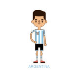 National Euro Cup argentina soccer football player vector illustration Stock Images