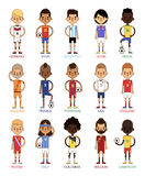 National Euro Cup soccer football teams vector illustration Stock Images
