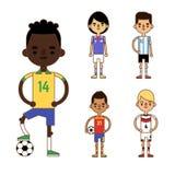 National Euro Cup soccer football teams vector illustration Royalty Free Stock Photos
