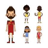 National Euro Cup soccer football teams vector illustration Royalty Free Stock Photo