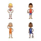National Euro Cup soccer football teams vector illustration Stock Photos