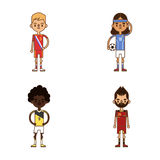 National Euro Cup soccer football teams vector illustration Royalty Free Stock Photography