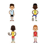 National Euro Cup soccer football teams vector illustration Royalty Free Stock Image