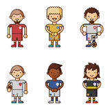 National Euro Cup soccer football teams vector illustration and world game player captain leader in uniform sport men Stock Photos