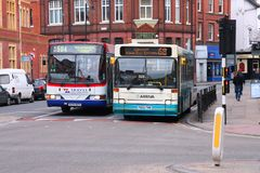 National Express and Arriva Royalty Free Stock Photography