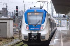 National express Train in Hagen Germany royalty free stock photo
