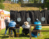 The national fastest draw competition at pagosa springs Royalty Free Stock Images