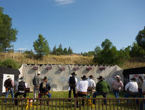 The national fastest draw competition at pagosa springs Stock Images