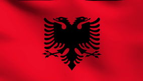National flag of Albania stock footage