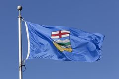 Alberta Province Flag, Canada. National flag of the Alberta province in Canada Royalty Free Stock Image