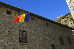 National flag of Andorra Royalty Free Stock Photo