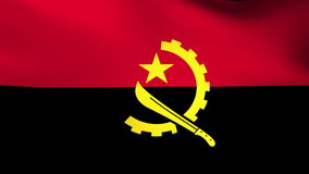 National flag of Angola, grunge stock video