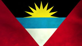 National flag of Antigua and Barbuda stock footage
