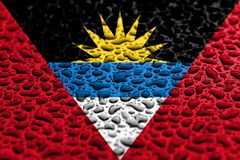 National flag of Antigua and Barbuda made of water drops. Background forecast concept.  royalty free illustration