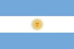 National flag - Argentina Stock Image