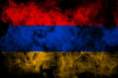 National flag of Armenia from thick colored smoke royalty free stock image