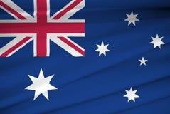 National flag of australia Royalty Free Stock Photos