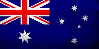 National flag of Australia Commonwealth of Australia. Grunge background vector illustration