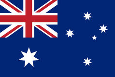 National flag of Australia with correct proportions and color scheme. Vector flat style illustration. Stock Images