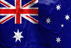 National flag of Australia Stock Photography