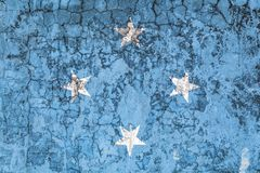 National flag on the background of the old wall royalty free illustration