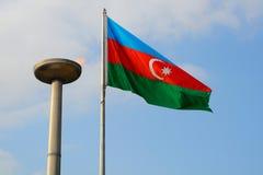 National flag, Baku, Azerbaijan Stock Image