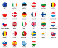 National flag ball of EU members Stock Image
