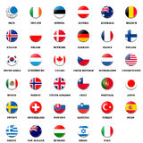 National flag ball of OECD members. National flag ball of OECD (Organisation for Economic Co-operation and Development) members Stock Images