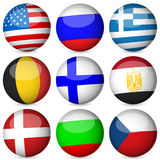 National flag ball set Royalty Free Stock Photography