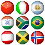 National flag ball set 2. National flag orb set on a white background Stock Photography