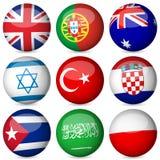 National flag ball set stock illustration