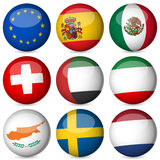 National flag ball set Stock Photo