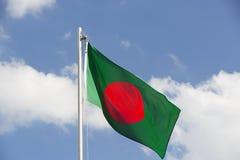 National flag of Bangladesh on a flagpole Stock Photos