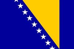 National flag of Bosnia and Herzegovina Royalty Free Stock Image