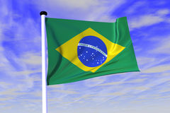 National flag Brazil. 3D Rendered National Flag - Brazil royalty free illustration