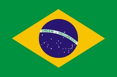 National flag of Brazil Royalty Free Stock Photography