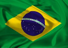 National flag of Brazil Royalty Free Stock Photo