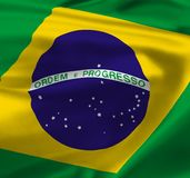 National flag of Brazil Royalty Free Stock Images