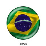 National flag of Brazil Royalty Free Stock Photos