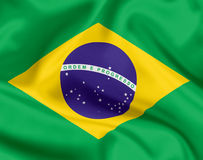 National flag of Brazil Stock Photography