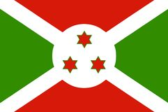 National flag of Burundi Royalty Free Stock Images