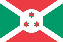 National flag of Burundi Royalty Free Stock Photos