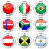 National flag button set 2 Stock Photo