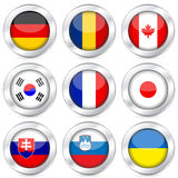 National flag button set 3 Royalty Free Stock Images