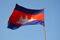 National flag of Cambodia Stock Photography