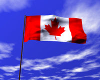National flag of Canada Royalty Free Stock Photography