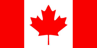 National flag of Canada with correct proportions and color scheme. Vector flat style illustration. Royalty Free Stock Images