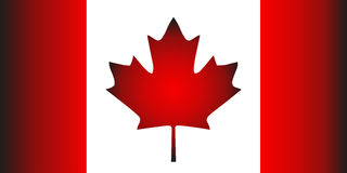 National flag of Canada with correct proportions and color scheme. Vector flat style illustration. Royalty Free Stock Photo